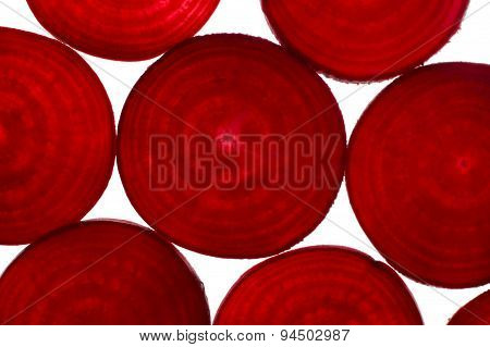 Beetroot Slices From Above