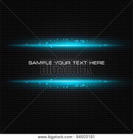 Abstract dark background with blue color light