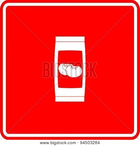 ketchup sachet sign