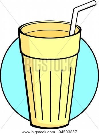 milkshake with drinking straw