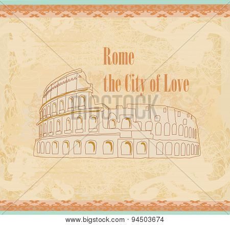 Colosseum In Rome -  Vintage Card