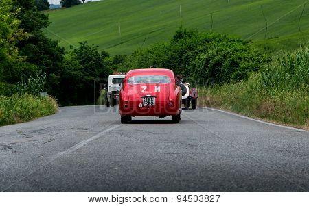old car FIAT 1100 103 TV Coupé Vignale 1954  mille miglia 2015