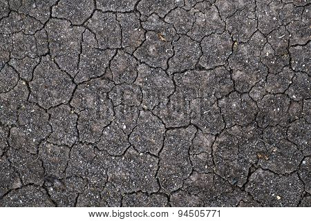 Dry cracked soil ground texture