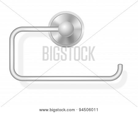 Toilet Paper Holder Vector Illustration
