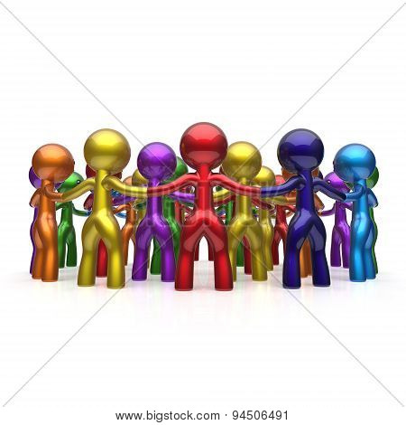 Social Network Large Circle Characters Group People Team