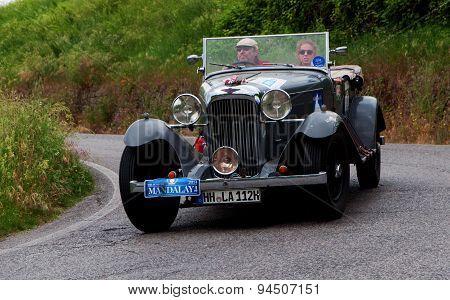 old car MERCEDES BENZ 720 SSK 1929 mille miglia 2015