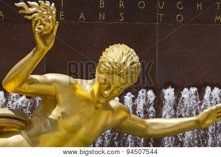 Golden Prometheus Statue, Editorial