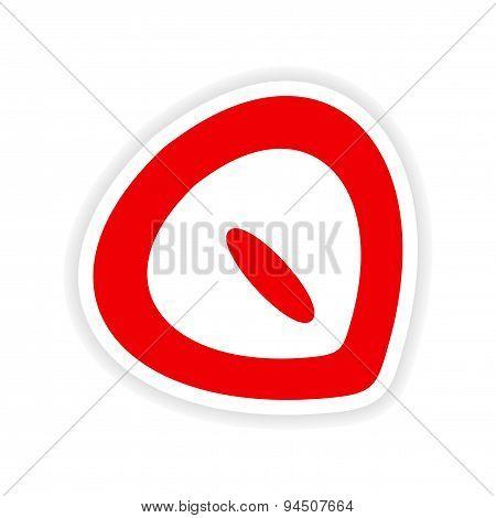 icon sticker realistic design on paper chestnut