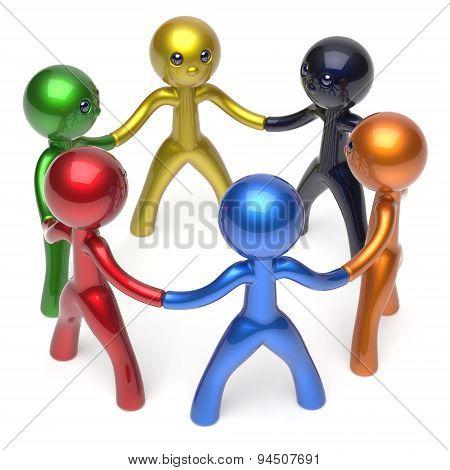 Social Network Characters Teamwork Human Resources Circle