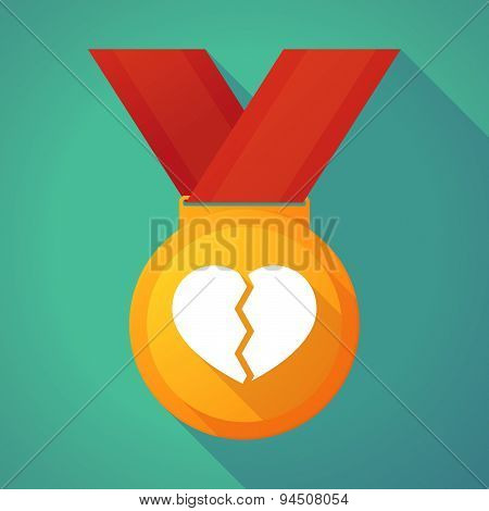 Long Shadow Gold Medal With A Broken Heart