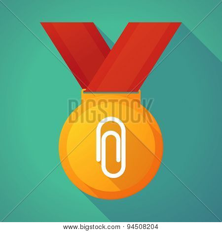 Long Shadow Gold Medal With A Clip