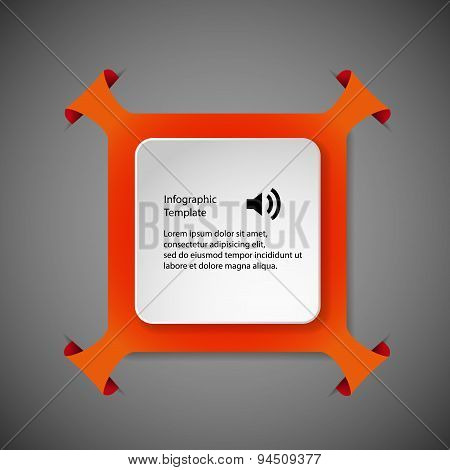 Infographic Template With Orange Rhombus Shape
