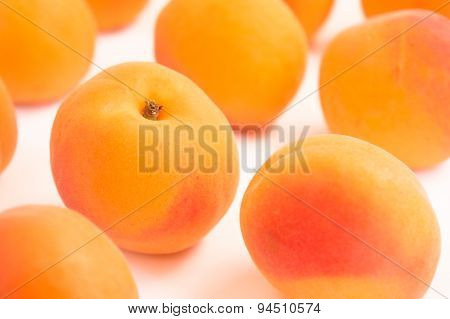 Close up on Single Apricot in a Pattern
