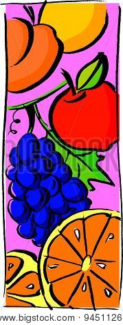 Grape and orange