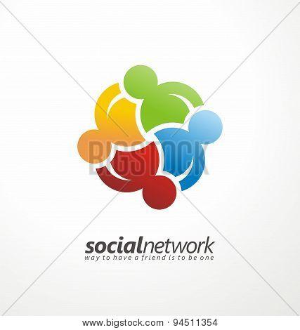 Friends concept social network sign