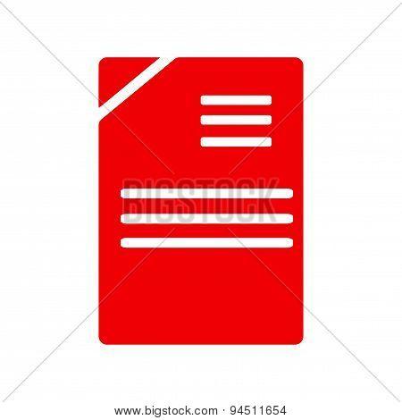 icon sticker realistic design on paper documents