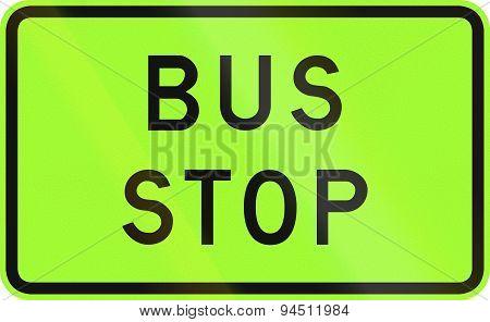 Bus Stop In Australia