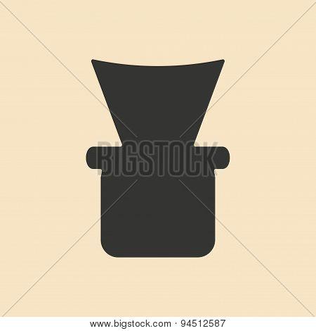 Flat in black and white mobile application shisha bowl