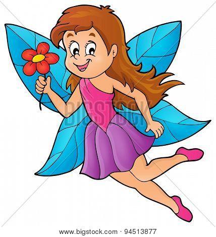 Happy fairy theme image 4 - eps10 vector illustration.