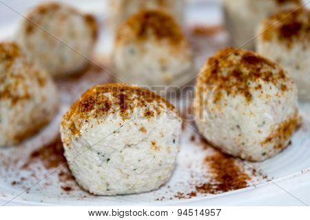 Balls Of Ricotta Cheese