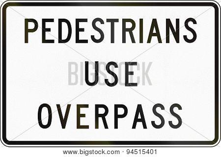 Pedestrians Use Overpass In Australia
