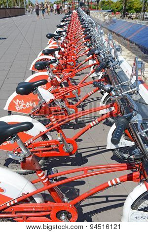 Bicycle share program in Barcelona, Spain