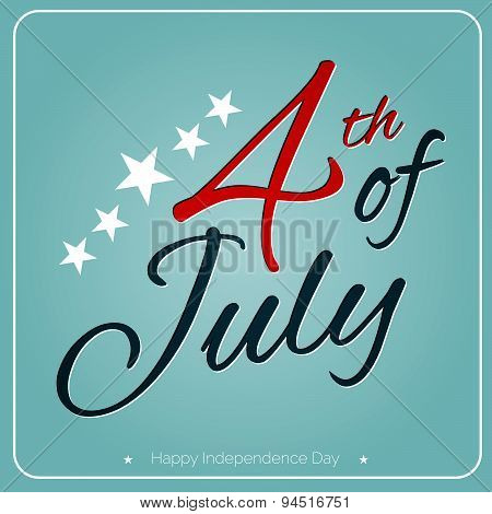 Postcard To The Happy Independence Day Card United States Of America, 4 Th Of July, 1776-2015.
