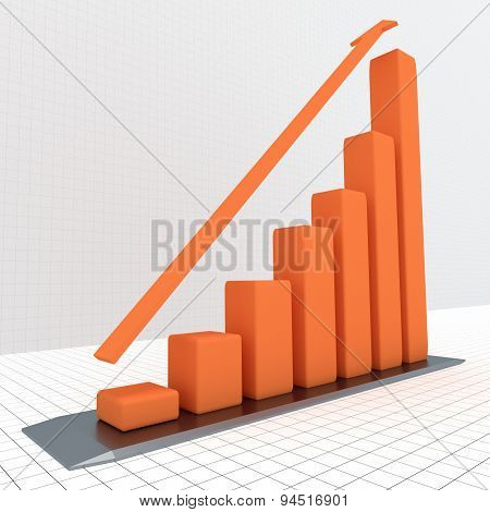 Graph With The Growing Progress