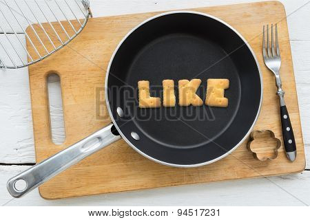 Letter Cookies Word Like And Kitchen Utensils