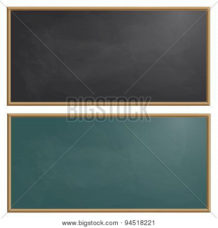 Set Drawing Board Chalk Vector Illustration