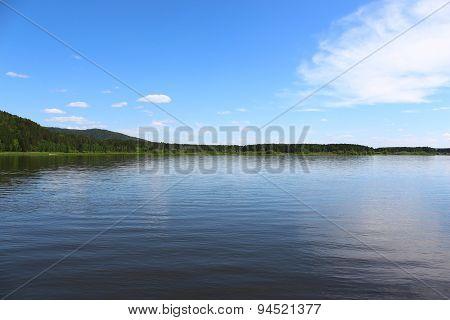 Siberian landscape, river Kan