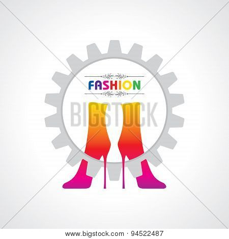 fashion illustration background with creative shoes stock vector