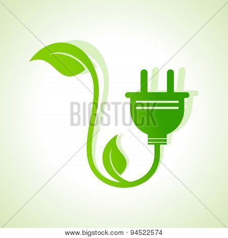 Ecology icon with green leaves stock vector