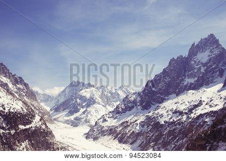 Mountain Glacier Mer De Glace