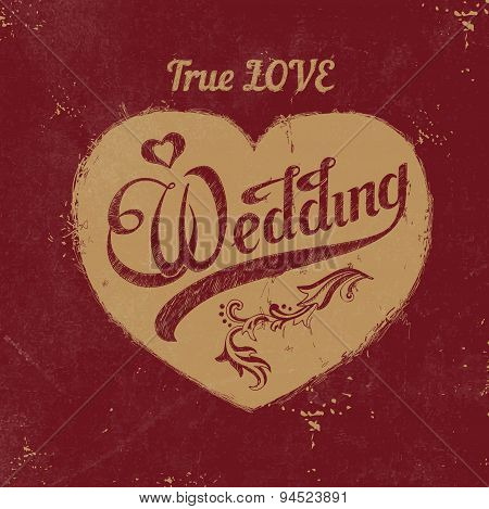 Vintage Love Heart. Wedding Decoration