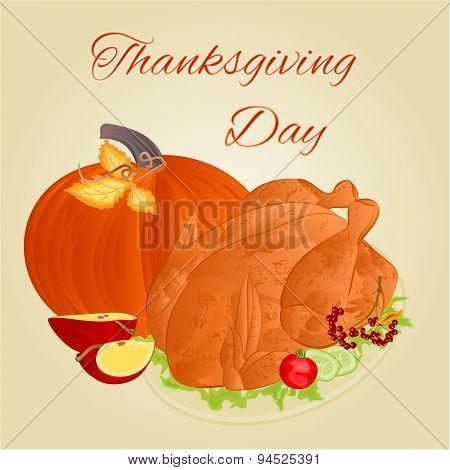 Turkey Thanksgiving Day Vector