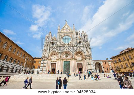 The Duomo Of Siena In Tuscany, Italy