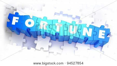 Fortune - White Word on Blue Puzzles.