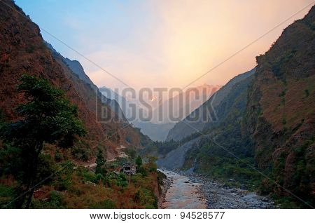 River in the Himalaya mountains
