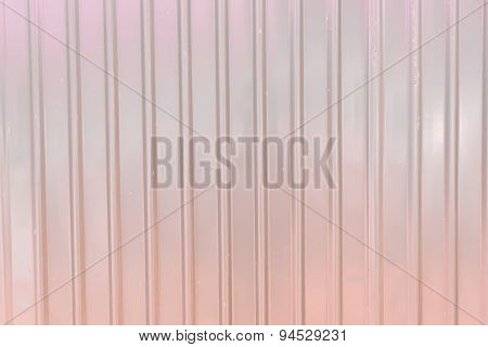 Old Rusty Galvanized Fence Sheet Placed Vertically