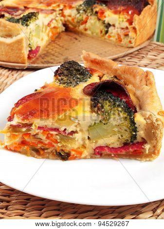 Quiche With Broccoli And Ham