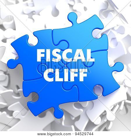 Fiscal Cliff on Blue Puzzle.