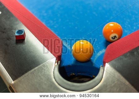 Pool Table During Game