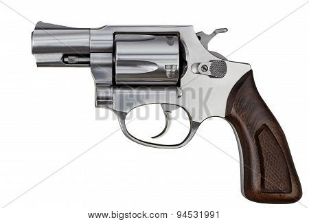 Pistol Revolver Handgun Firearm Isolated On White Background