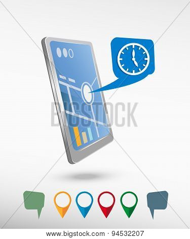 Watch And Perspective Smartphone Vector Realistic