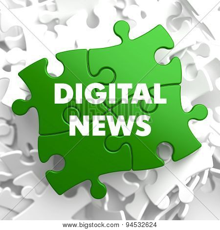 Digital News on Green Puzzle.