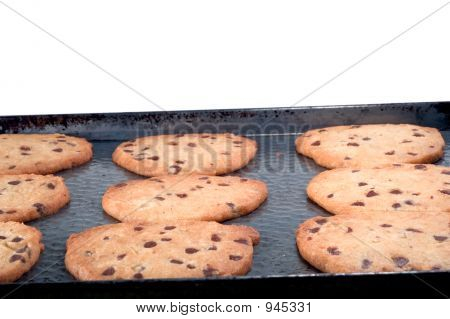 Chocolate Chip Cookies On Pan