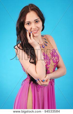 Young Girln In Evening Dress
