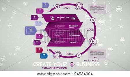 Timeline Infographic, Vector design template