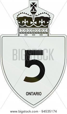 Ontario Highway Shield 5